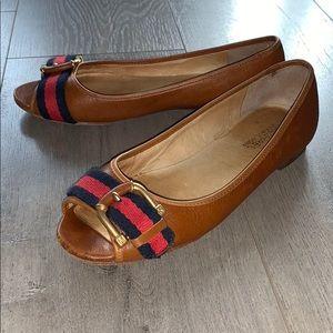 Michael Kors Leather Peep Toe Shoes 6.5